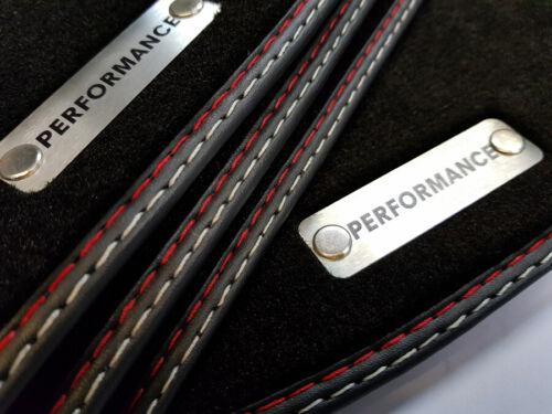 Fußmatten mit rostfreiem Stahlzeichen Performance für Audi A5 Coupe Cabrio 07-17