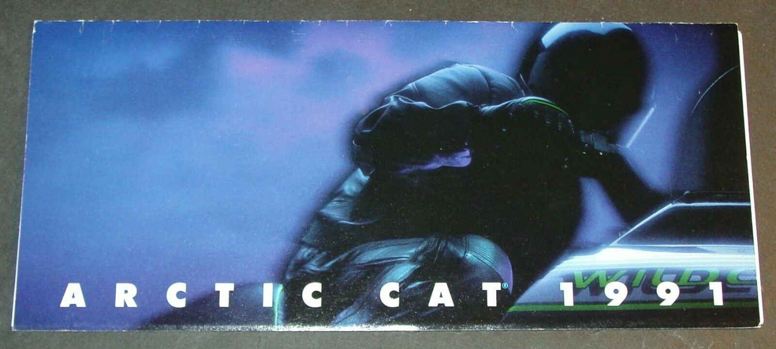 1991 ARCTIC CAT SNOWMOBILE FULL LINE SALES BROCHURE 4  x 8 1 2   NICE   (040)