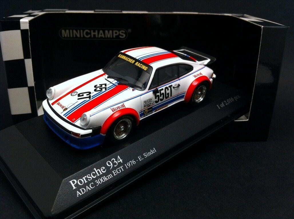 PORSCHE 934  55 GT 300KM NURBURGRING 1976 EGT EBERHARD SINDEL MINICHAMPS 1 43