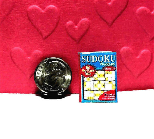 NEW ITEM Dollhouse Miniature Puzzle Book Sudoku Puzzles 1:12 Handmade