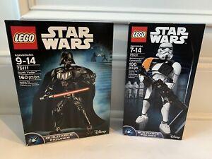 STAR-WARS-DISNEY-LEGO-LOT-X2-DARTH-VADER-75111-STORMTROOPER-COMMANDER-MISB-75331