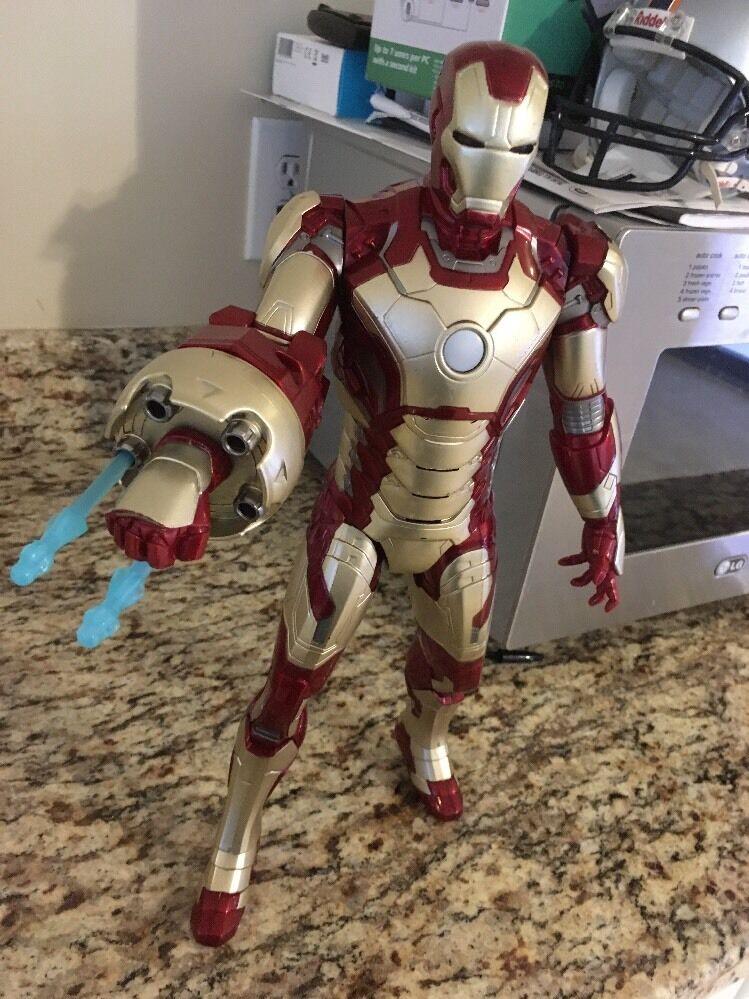 Giant 15 Inch Tall Electronic Iron Man Action Figure 2012 Hasbro