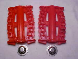 """Vintage Red 7//16/"""" Tricycle Pedals /& Grips Elgin Colson Murray Huffy Amf nos"""