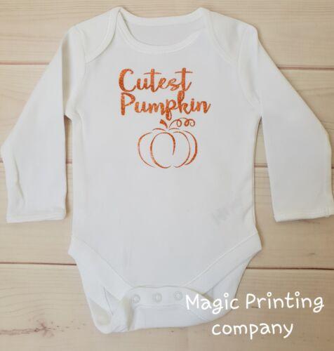 Cutest Calabaza Bebé Body Conjunto Disfraz Halloween 1st Chaleco Recién Nacidos Regalo UK