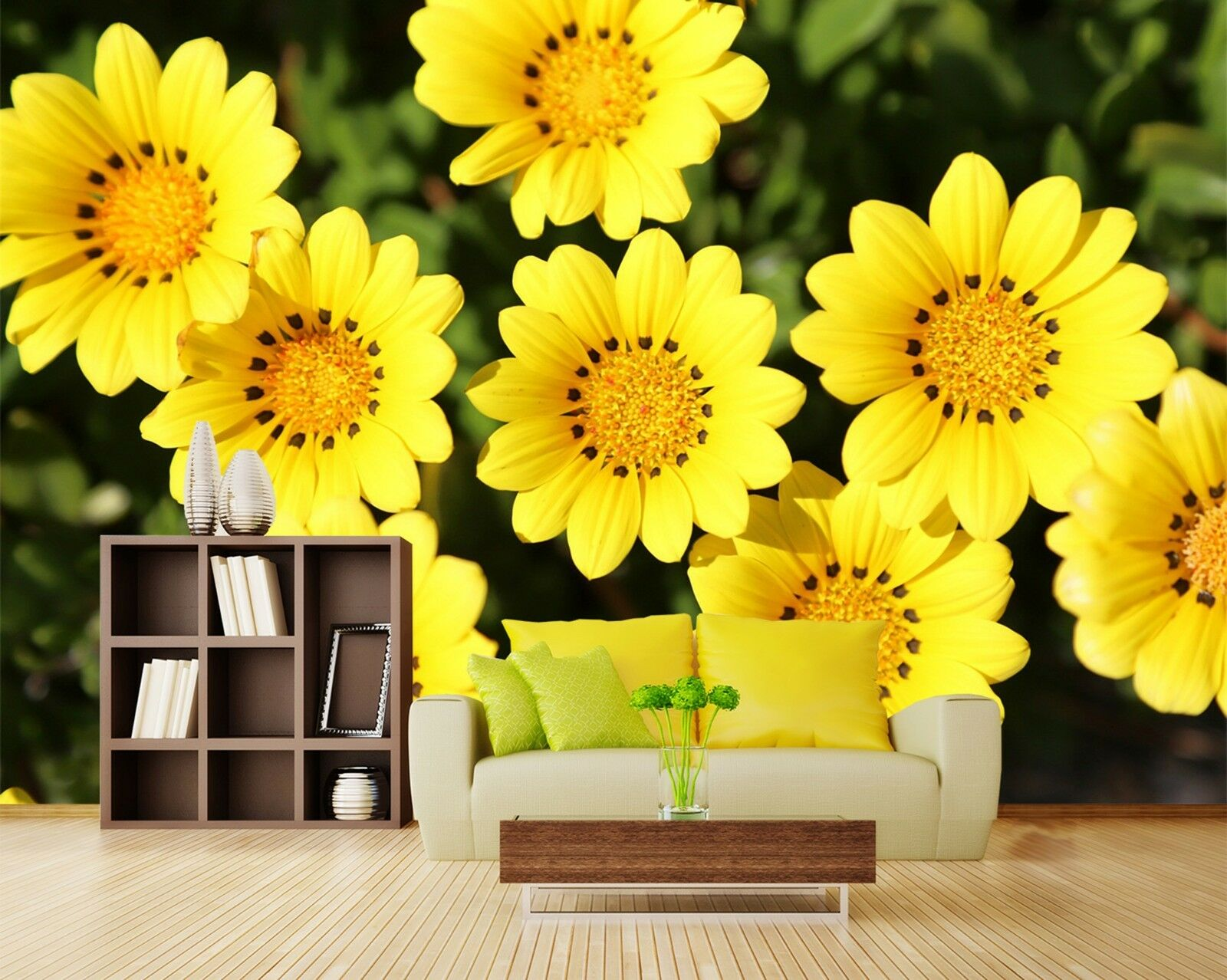 3D Gelb small flowers Wall Paper wall Print Decal Wall Deco Indoor wall Mural