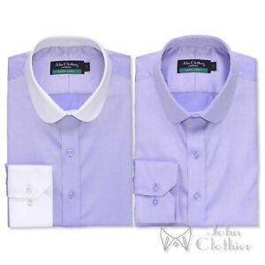 Banker Blinder Uomo Diamond Round Penny Peaky Shirt Club Collar Lilac Gent FnIUg