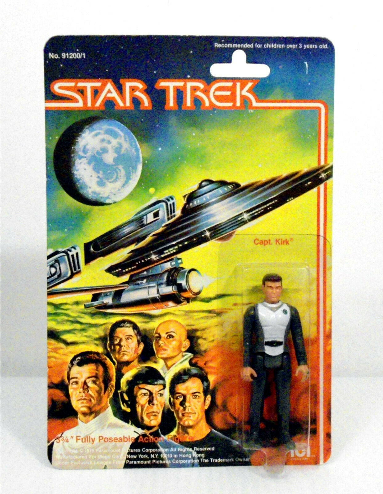 Star Trek the Motion Picture figurine Captain Kirk 1979 MEGO Comme neuf on Card