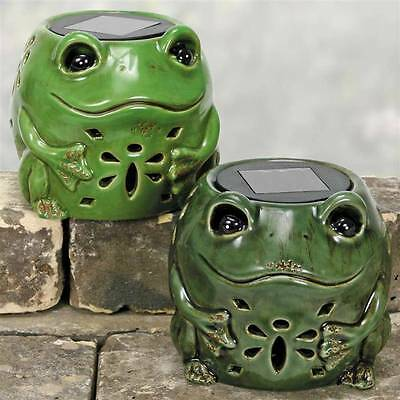 Coyne's and Co. Frog Solar Lantern or Tealight Holder in 2 colors D2642