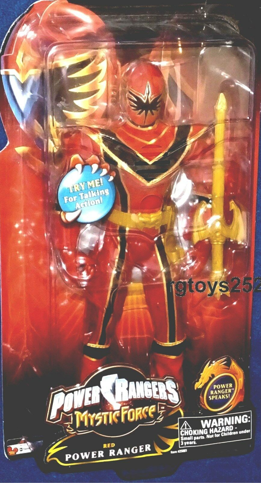 Power Rangers Mystic Force Force Force RED 12 Inch Talking Ranger New  Factory Sealed 2006 735748