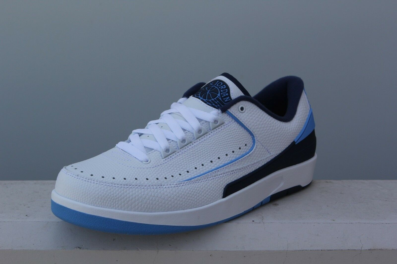 832819-107 Jordan Men Air Jordan 2 Retro Low Midnight Navy  university Blau midn
