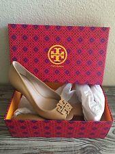 Tory Burch Lowell Peep Toe Wedges Womens Size 5.5 Heels Shoes ��