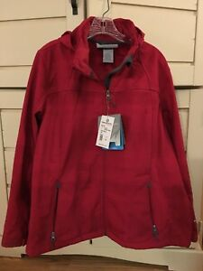 Giacca Free scuro 1x Taglia NWt Softshell Jubilee con cappuccio Red rosa Womens Country And81wq4R