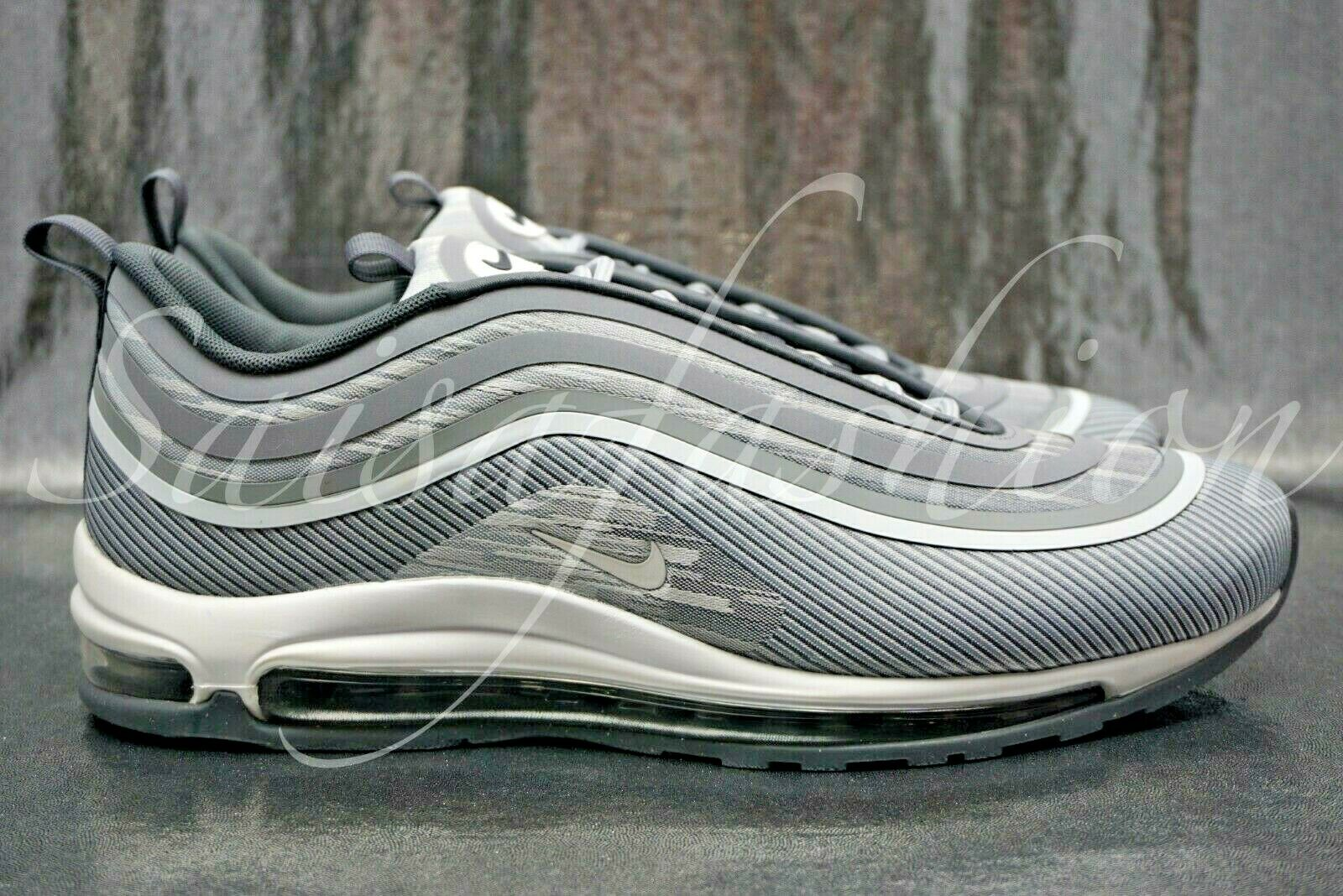 NIKE AIR MAX 97 UL '17 WOLF GREY WHITE-DARK GREY SIZE MEN'S 918356-007 Sz 8