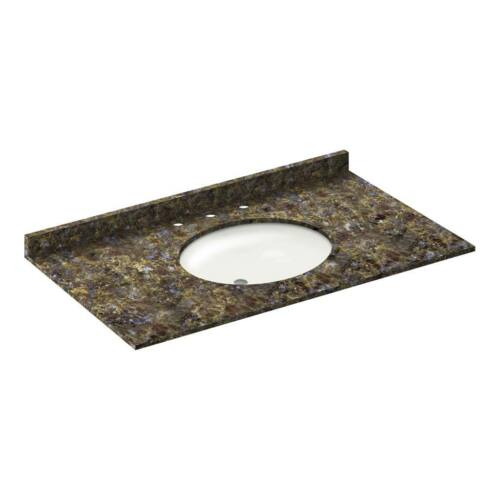 """PICK-UP ONLY 43/"""" Vanity top with sink 8/"""" spread Granite Blue Butterfly"""