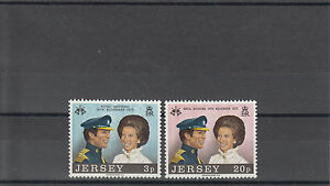 JERSEY-1973-MNH-Royal-Wedding-SG-97-98-ROYALTY-Principessa-Anna-STAMPS