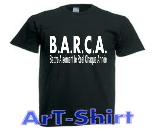 T-SHIRT BARCA REAL BARCELONE humour foot sport S M L XL XXL homme neuf
