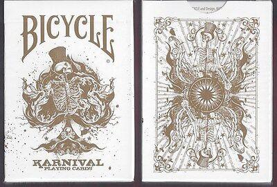 2 DECKS Karnival Original in Gold playing cards