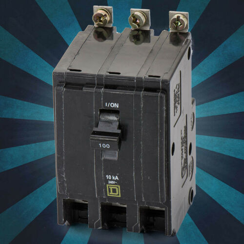 Square D QOB3100 3PHASE 3POLE 100AMP Magnetic