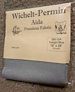 Wichelt-Imports-PREMIUM-Cross-Stitch-Fabric-AIDA-16-ct-18-034-X-25-034-TWILIGHT-BLUE