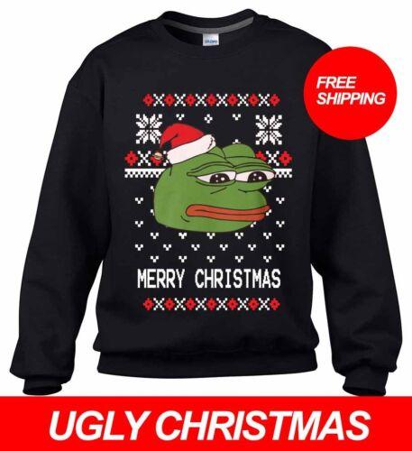 Pepe la grenouille Ugly Christmas mème Pull Fête Toutes Tailles LIVRAISON GRATUITE