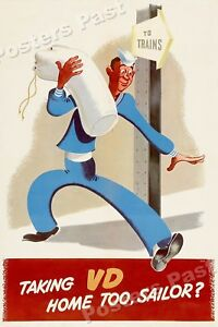 1940s-Taking-VD-Home-Too-Sailor-WWII-Navy-Propaganda-War-Poster-20x30