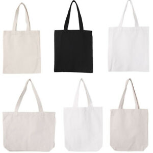 Image is loading DIY-Blank-Canvas-Tote-Bag-Purse-Shopper-Shopping-  sc 1 st  eBay & DIY Blank Canvas Tote Bag Purse Shopper Shopping Shoulder Bags ...