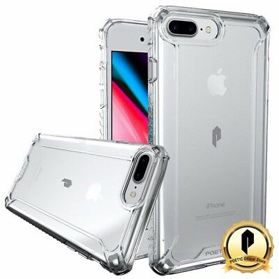 Poetic Apple iPhone 8 Plus Case [Affinity] Dual material Protective Cover Clear