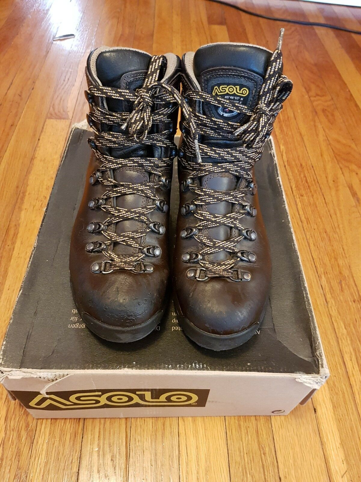 Asolo TPS 520 GV GTX Gore-Tex Brown Leather Hiking Waterproof Boots Women's US 8