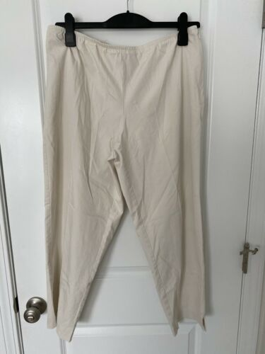 Eileen Fisher Ivory Color Tapered Leg Pant Sz L