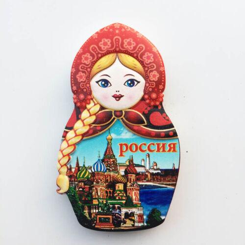 Russia 3D  Art Photo Fridge Magnet Kitchen Sticker Refrigerator Ornament Gift