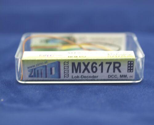 Zimo MX617R Miniatur Decoder  Loco Decoder Schnittstelle NEM652 an Drähten