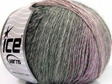 Hand Knitting Yarn Grey Shades Pink Lot of 8 Skeins Ice Yarns ROSETO 30/% Wool