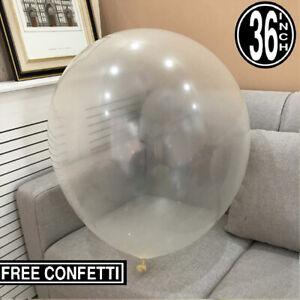 """Clear Latex Ballon transparent 36 """"pouces Big Giant Grand Anniversaire Ballons décors"""