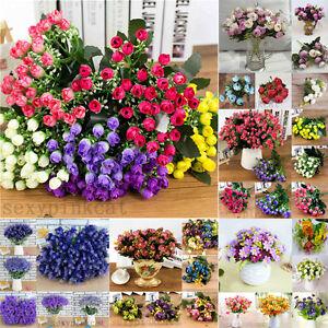 Bridal-Wedding-Silk-Flowers-Party-Bouquet-Posy-Hydrangea-Floral-Home-Decor