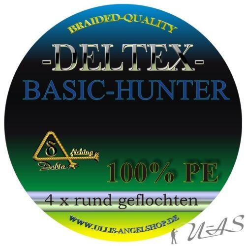 Deltex Basic Hunter Grau 0,10mm 5.70Kg 1000M Rund Geflochtene Angelschnur Sha