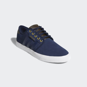 acee75a67b38 Image is loading Adidas-Seeley-Navy-White-Suede-Mens-Originals-Trainers-