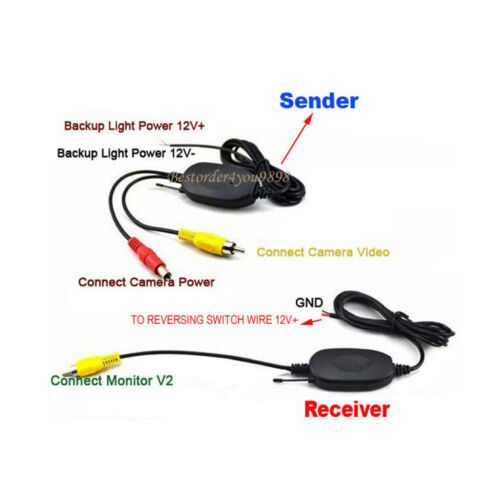 "4.3/"" KFZ klappbar Monitor Rückansicht System Funk 4LED HD Rückfahrkamera 170°"
