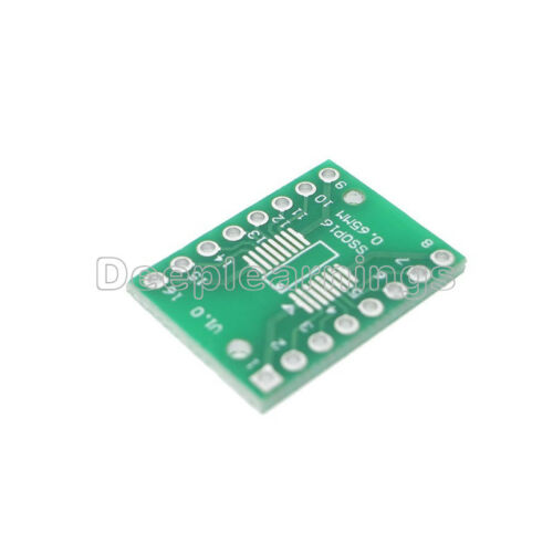 20PCS SOP16 SSOP16 TSSOP16 To DIP16 0.65//1.27mm IC Adapter PCB Board