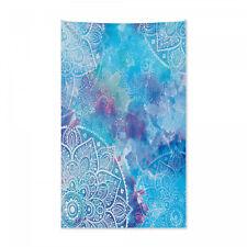 Aquarell-Blumen Asiatische Druck Mandala Wandteppich und Tagesdecke