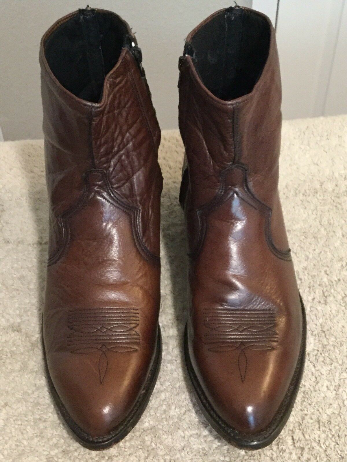 Abilene  6034 Men's Brown Soft Leather Boots. Size 9.5. Excellent Condition.