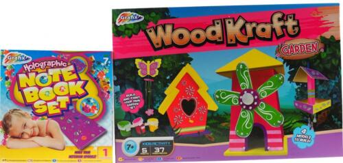 Kid/'s Make Your Own Wooden Garden Crafts And Sequin Notebook