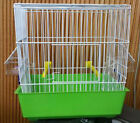 SONG BIRD CAGE. FOR SINGLE CANARY #DM608WH WHITE WIRE WITH COLOR BASE