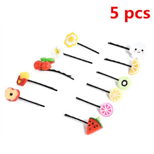 5PCS-Fruit-and-Vegetable-Design-Hairpin-Hair-Clip-Accessories-Fashion-Girl-Gift