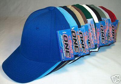 12 COLOR PACK FLEX ULTRA FIT BASEBALL CAPS HATS HAT CAP