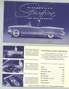 Neat !! 1950s Oldsmobile Starfire X-P Rocket Show Car Sales Card