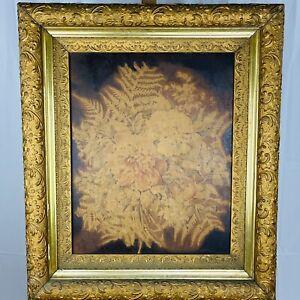 Antique 17th Century Floral Still Life Oil on Canvas Molded Gilt Wood Frame