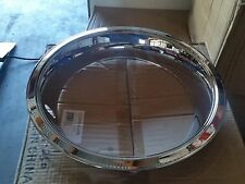 14x7 Chrome Over Stainless 3 Inch Trim Rings