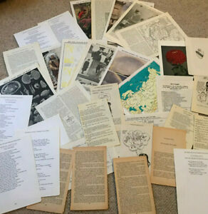 Vintage-Book-Pages-Mixed-lot-Paper-Ephemera-Collage-Mixed-Media-80-Pieces