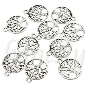 10-30-50Pcs-Tibetan-039-Tree-of-Life-Circle-039-Charms-Pendants-For-Jewelry-Finding