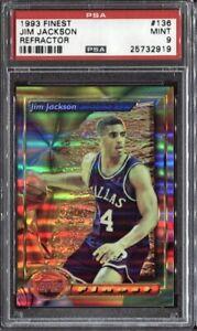 Jim-Jackson-1993-Topps-Finest-Basketball-Refractor-136-PSA-9-Mint
